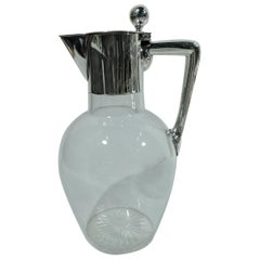 German Modern Silver & Glass Decanter