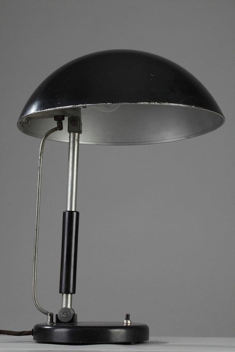 Plated German Modernist Desk Lamp by Karl Trabert & G. Schanzenbach & Co. For Sale