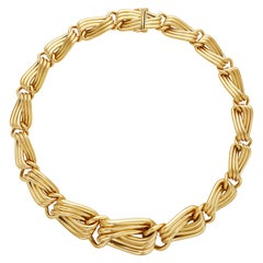 German Neiman Marcus 18 Karat Yellow Gold Link Necklace