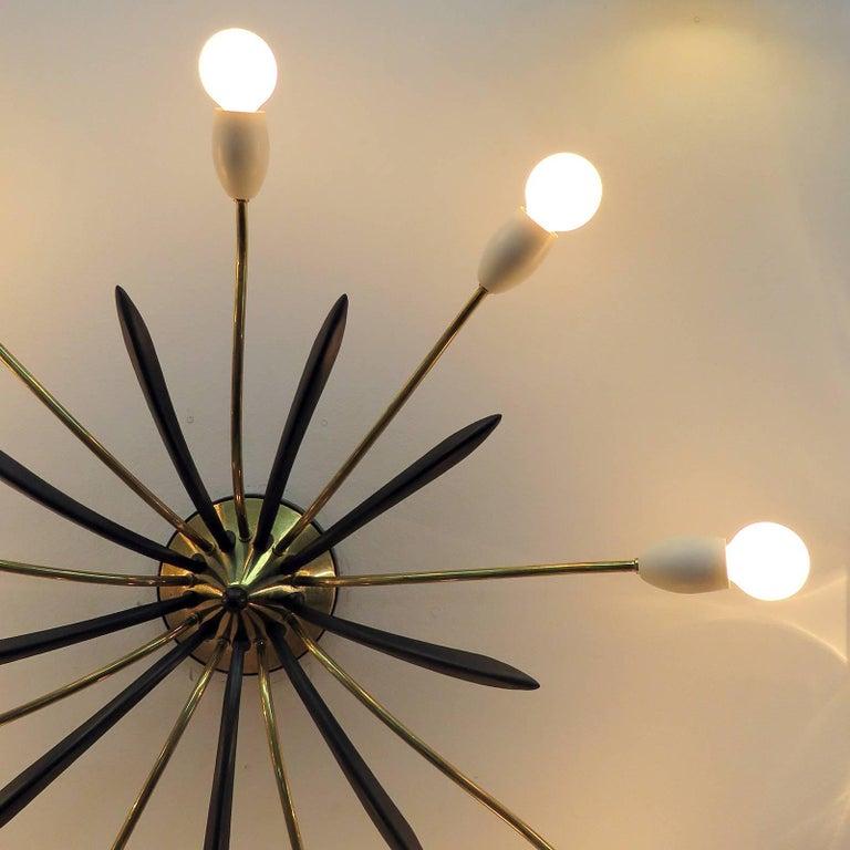 German Nine-Arm Sputnik Light, 1950s For Sale 3