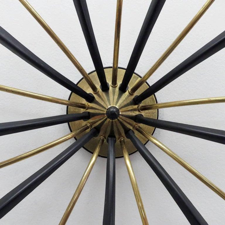 Mid-20th Century German Nine-Arm Sputnik Light, 1950s For Sale