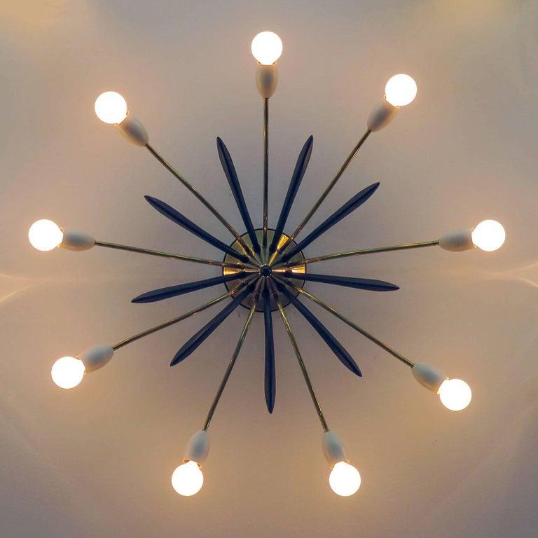 German Nine-Arm Sputnik Light, 1950s For Sale 1