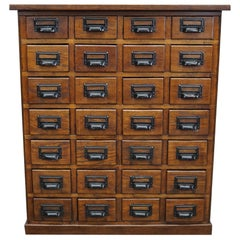 German Oak Apothecary Cabinet, 1930s