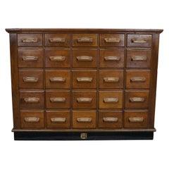 German Oak Apothecary Cabinet, circa 1930s