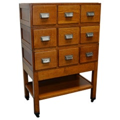 German Oak Apothecary Cabinet, Mid-20th Century