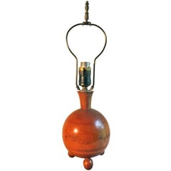 German or Austrian Fruitwood Deco Table Lamp