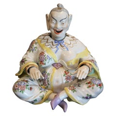 German Porcelain Chinoiserie Nodder Figure of a Chinese Man by Dresden