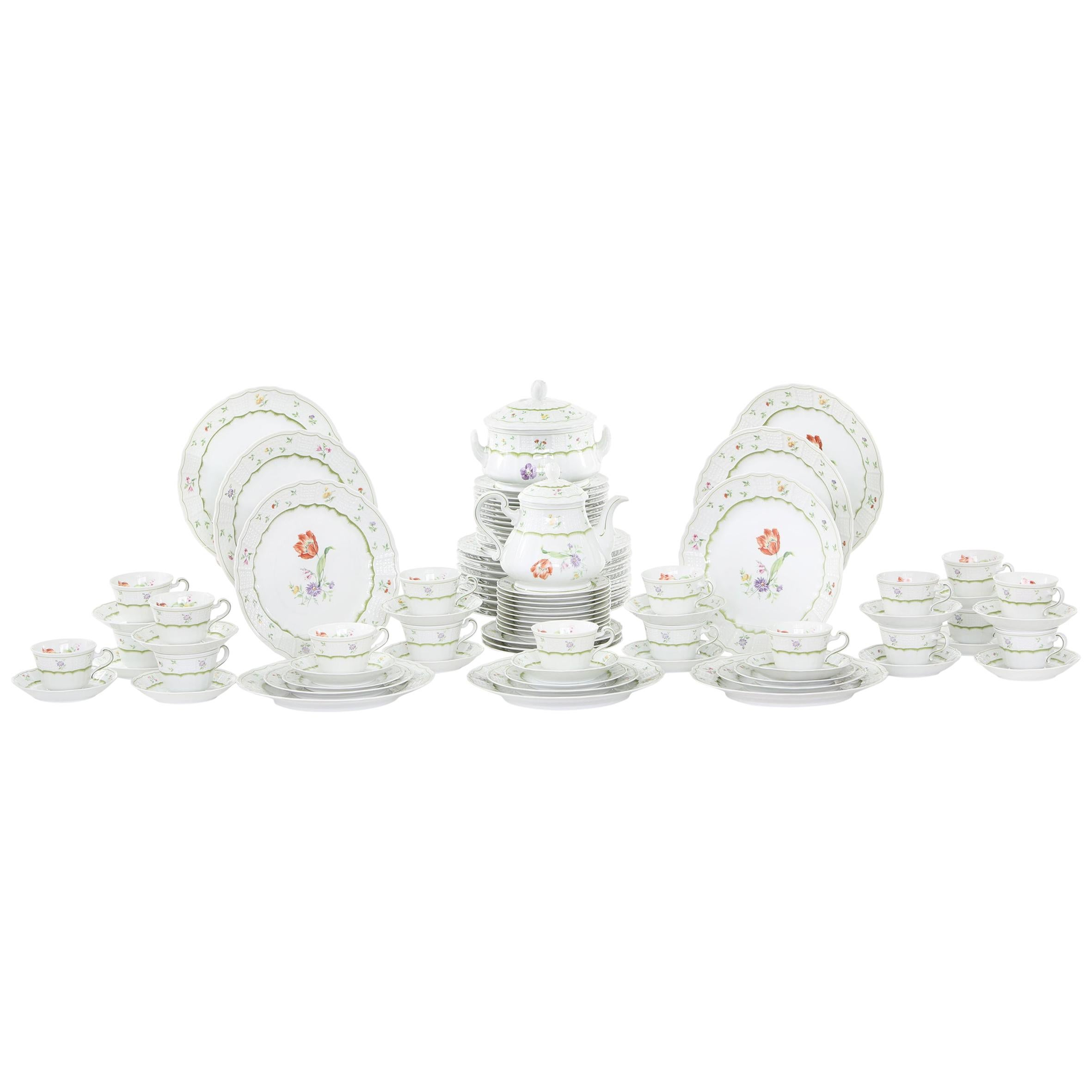 German Porcelain Dinner Service For Eighteen People