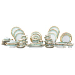 German Porcelain / Gold Dinner Service For Ten People