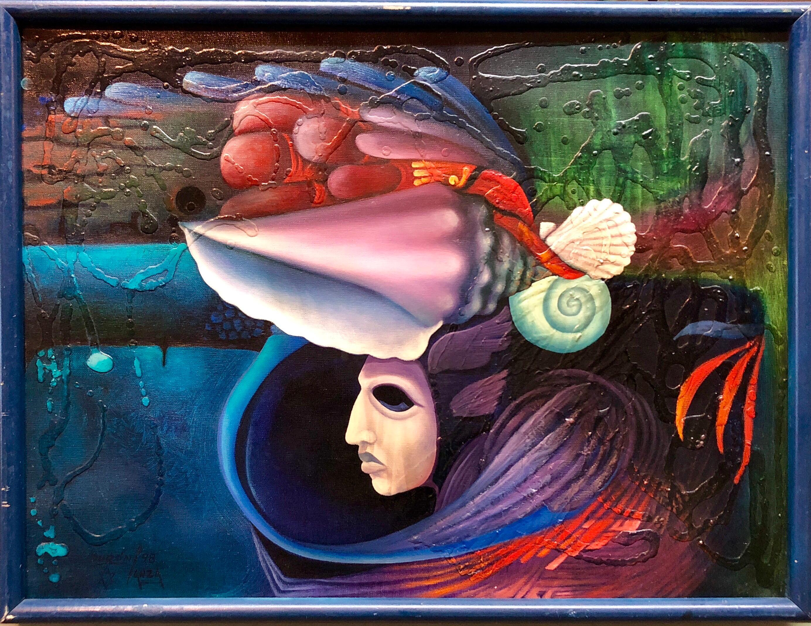 Magic Realist Surrealist Latin American Naive Fantasy Painting