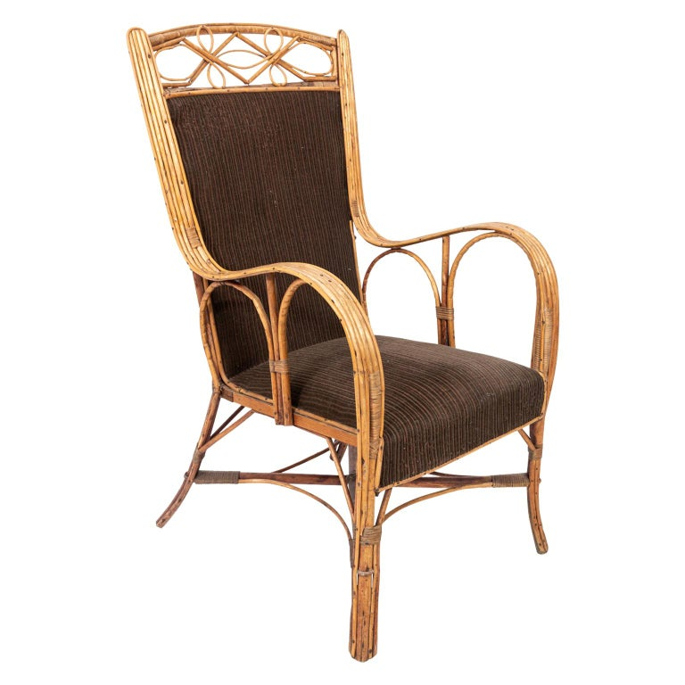 German Rattan Armchairs For Sale at 1stdibs