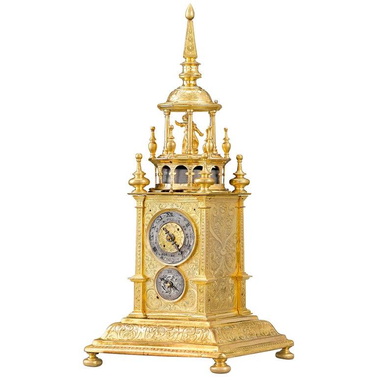 German Renaissance Turret Clock For Sale