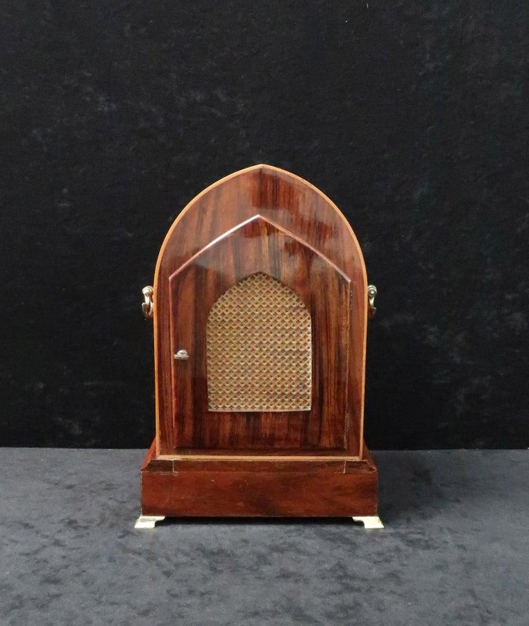 19th Century German Rosewood Ting Tang Striking Mantel Clock by Winterhalder & Hofmeier For Sale