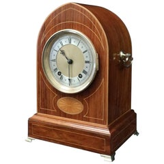 German Rosewood Ting Tang Striking Mantel Clock by Winterhalder & Hofmeier