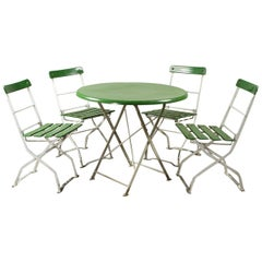 German Round Table and Chairs Set, 20th Century