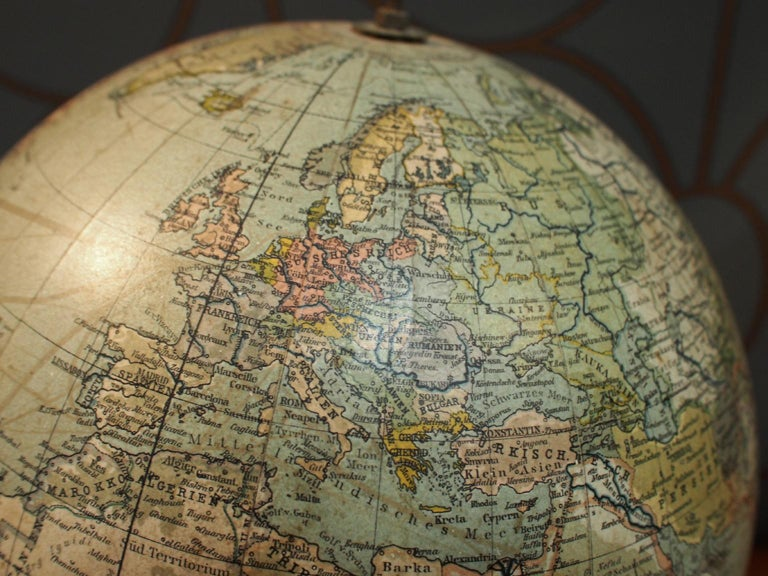 20th Century German School Globe from the 1920s For Sale