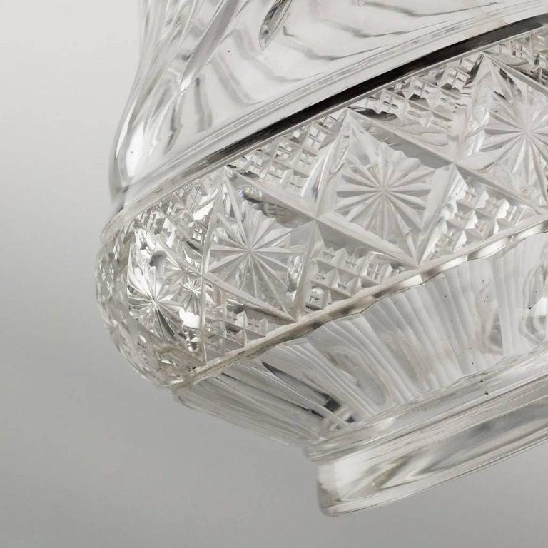 German Silver and Cut-Glass Massive Claret Jug, circa 1890 For Sale 4