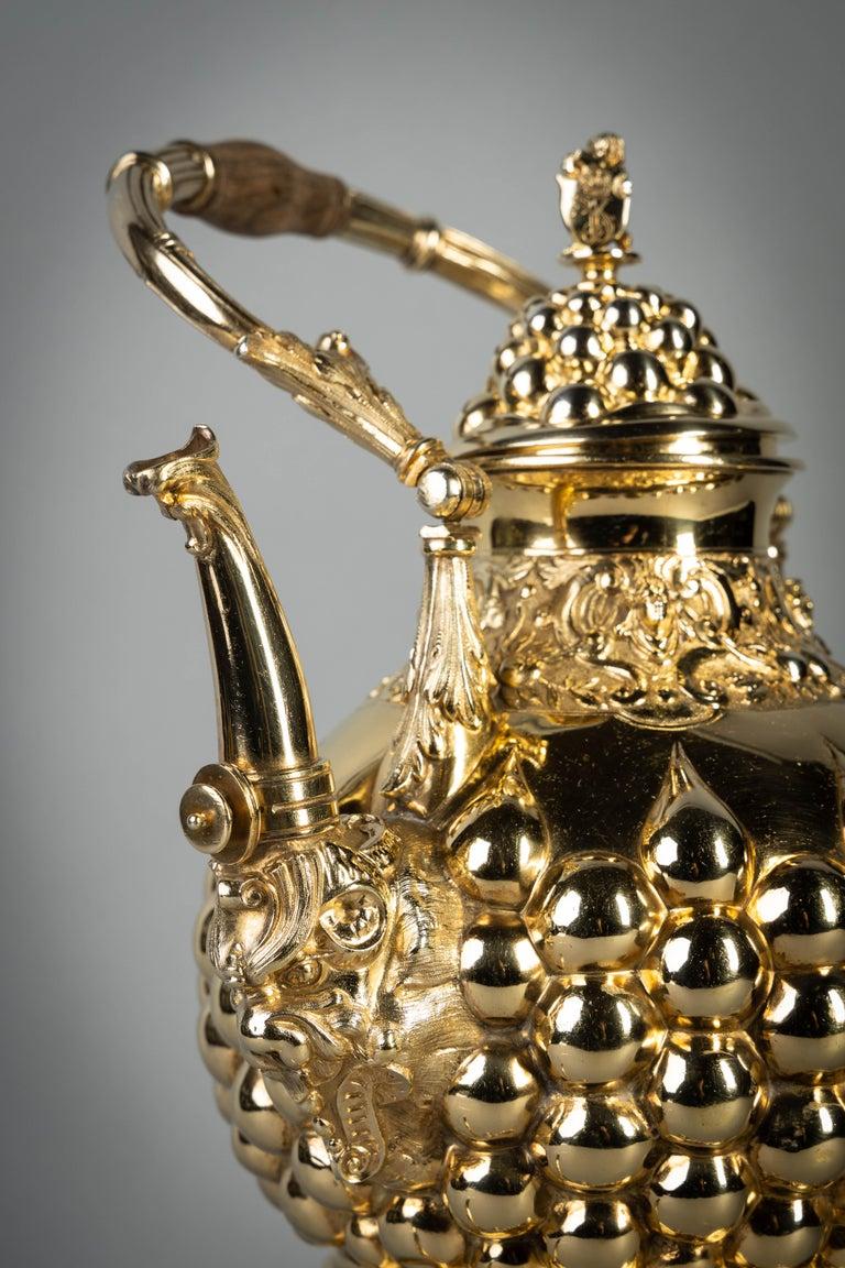 German Silver Gilt Tea and Coffee Service, circa 1875 For Sale 11