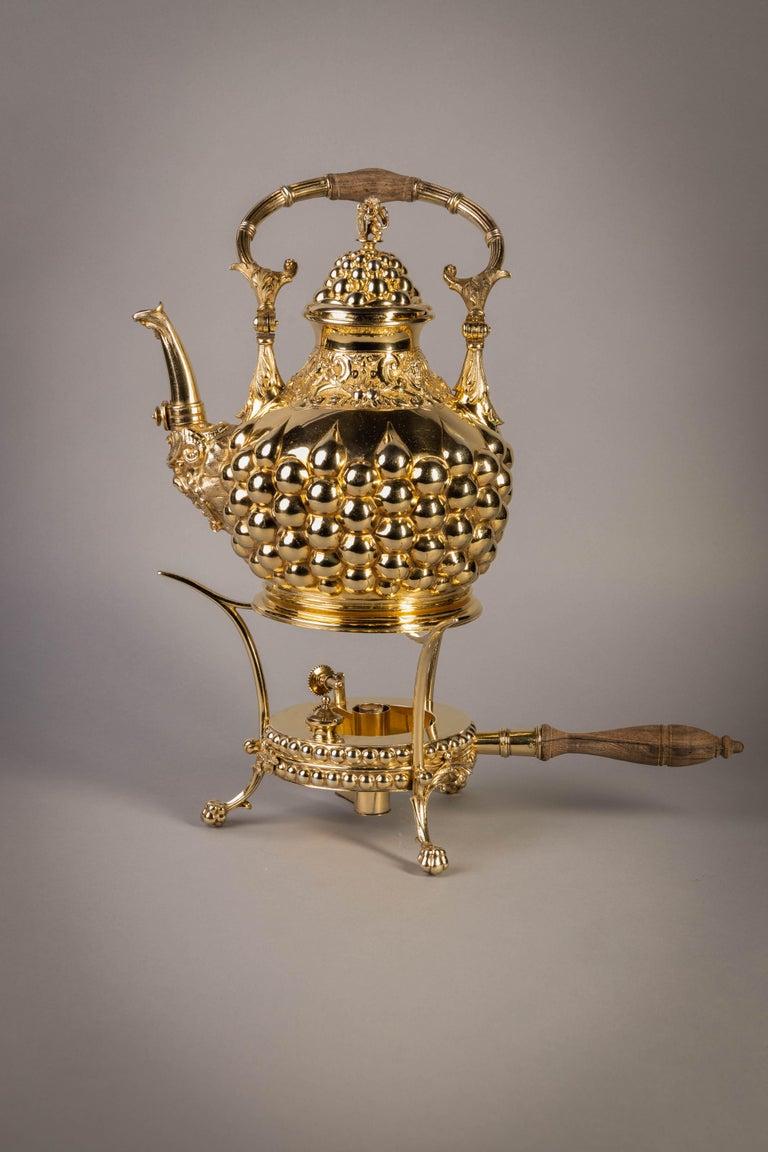 German Silver Gilt Tea and Coffee Service, circa 1875 For Sale 12