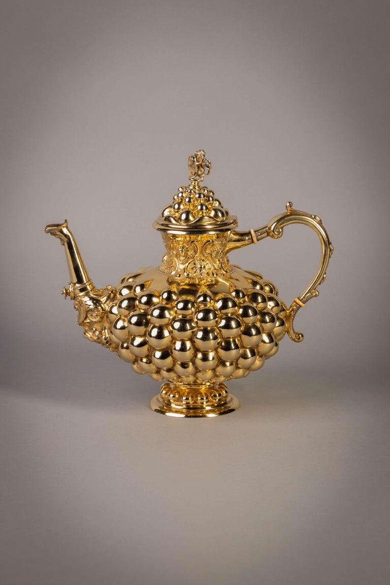 German Silver Gilt Tea and Coffee Service, circa 1875 For Sale 13