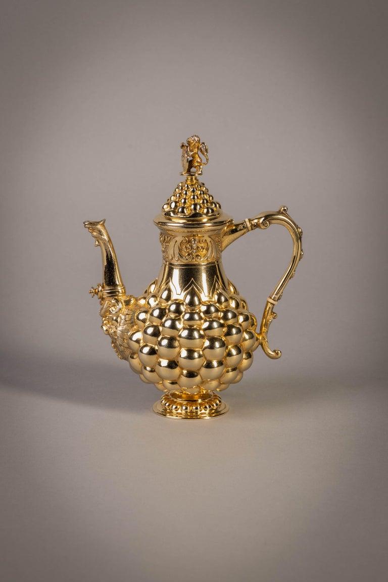German Silver Gilt Tea and Coffee Service, circa 1875 For Sale 15