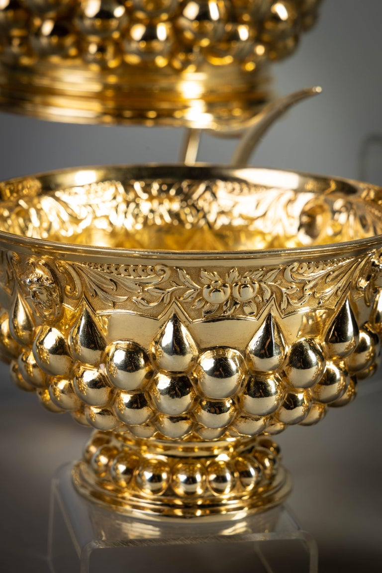 German Silver Gilt Tea and Coffee Service, circa 1875 In Good Condition For Sale In New York, NY