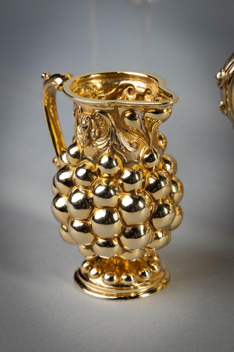Late 19th Century German Silver Gilt Tea and Coffee Service, circa 1875 For Sale