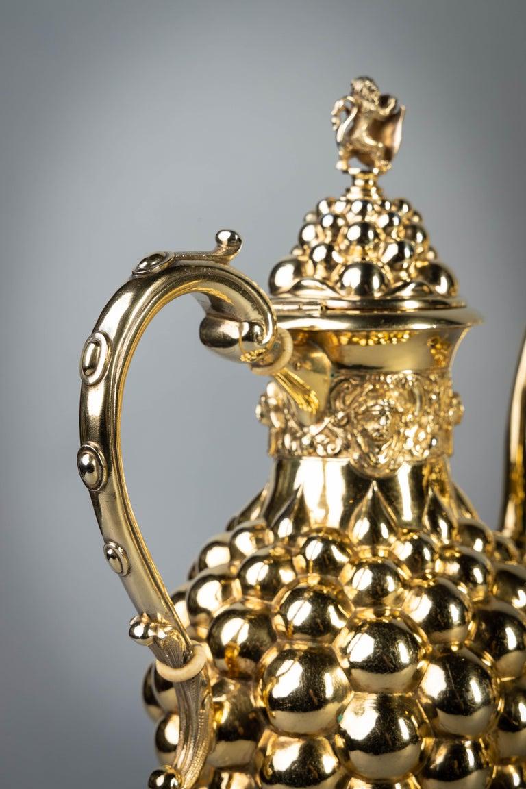 German Silver Gilt Tea and Coffee Service, circa 1875 For Sale 2