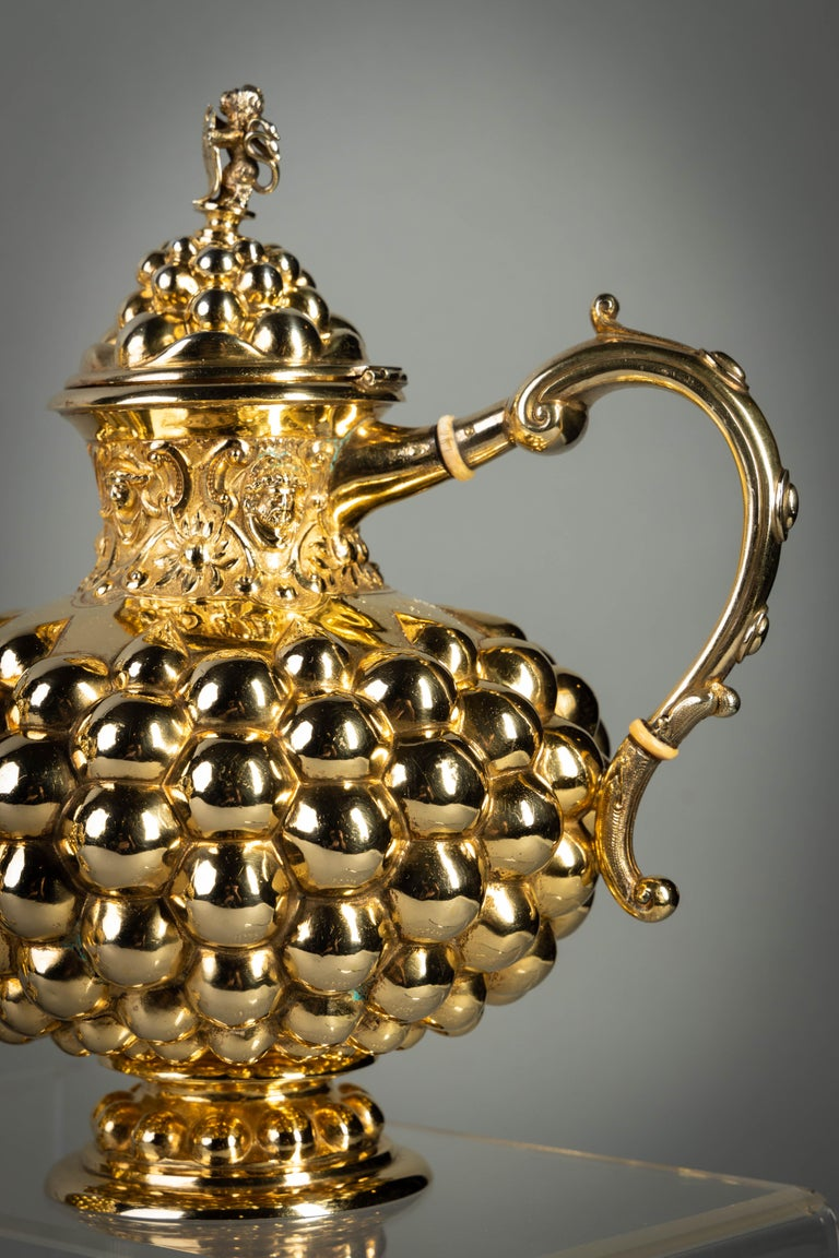 German Silver Gilt Tea and Coffee Service, circa 1875 For Sale 5