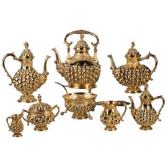 German Silver Gilt Tea and Coffee Service, circa 1875