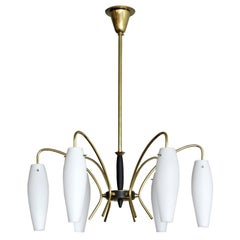 German Six-Light Chandelier, 1950