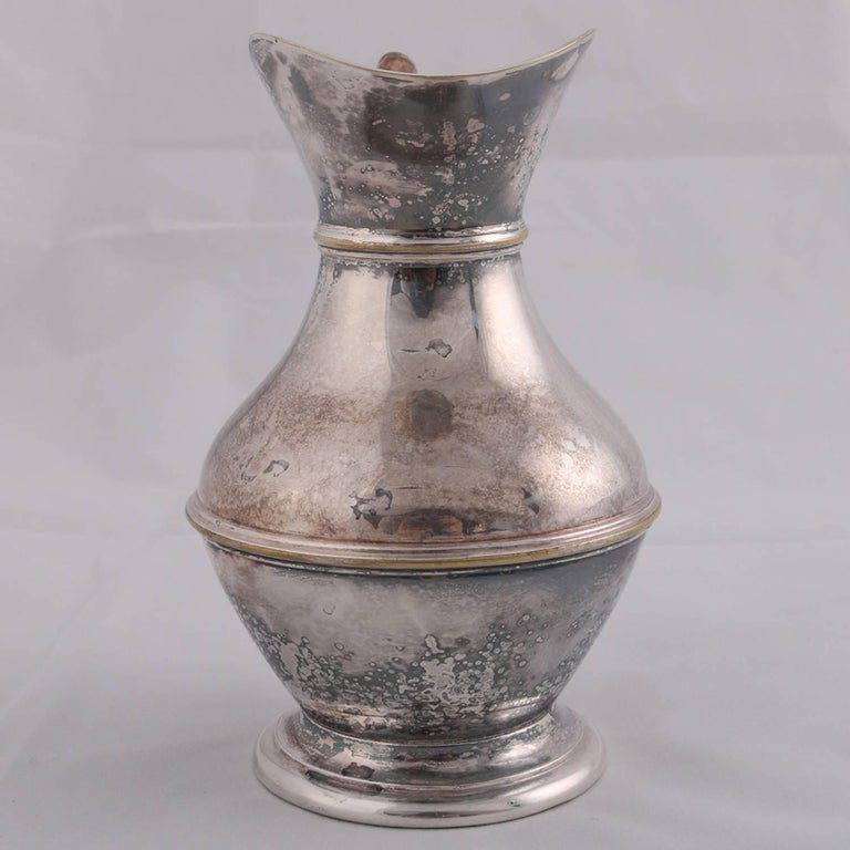 German Sterling Silver Georgian Style Pitcher 9.4 toz Darmstadt, 19th Century For Sale 6