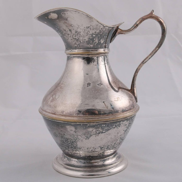 German Sterling Silver Georgian Style Pitcher 9.4 toz Darmstadt, 19th Century For Sale 7