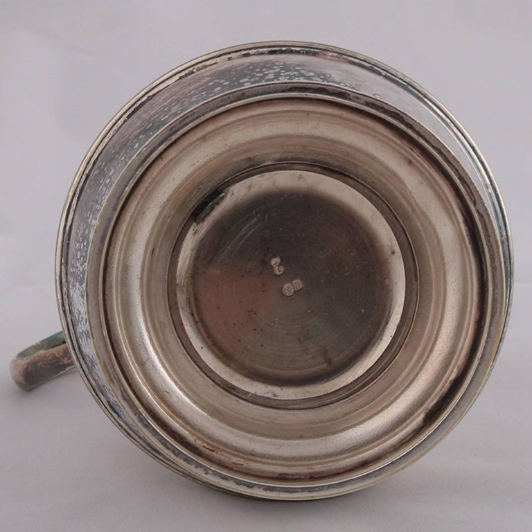 German Sterling Silver Georgian Style Pitcher 9.4 toz Darmstadt, 19th Century In Good Condition For Sale In Big Flats, NY
