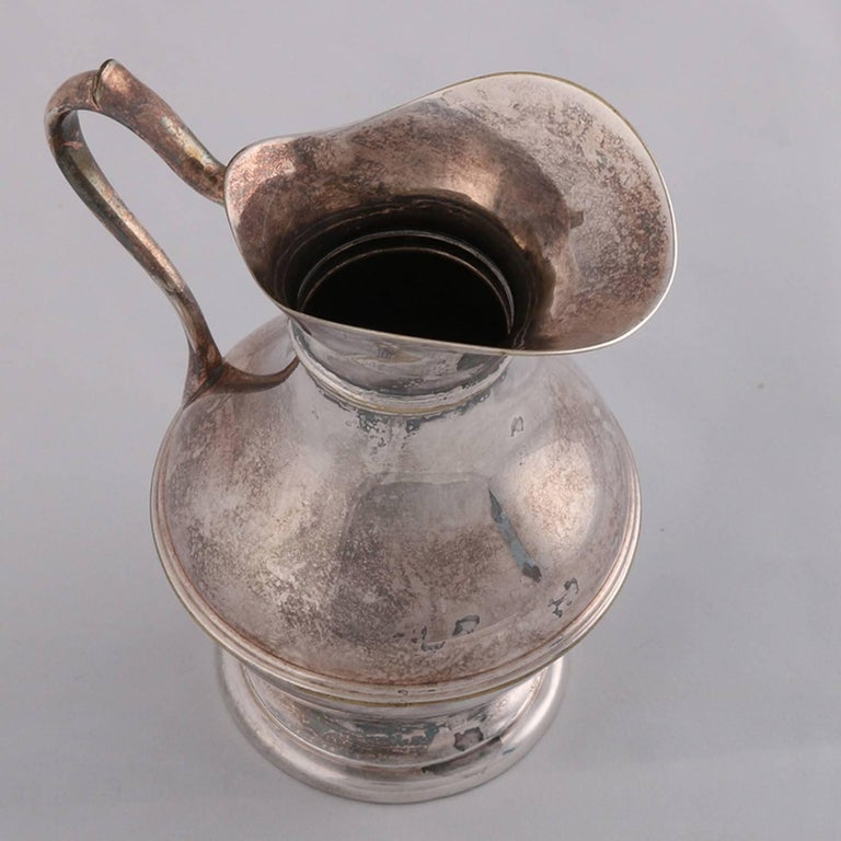 German Sterling Silver Georgian Style Pitcher 9.4 toz Darmstadt, 19th Century For Sale 4