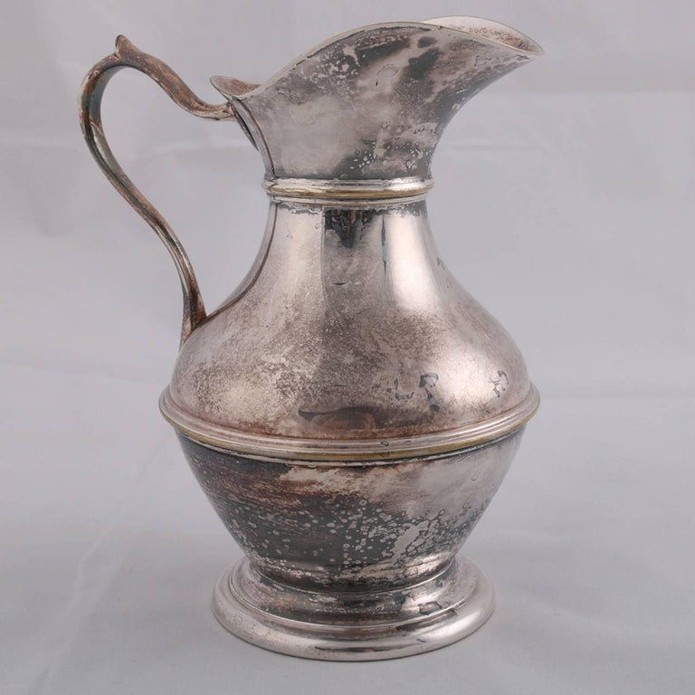 German Sterling Silver Georgian Style Pitcher 9.4 toz Darmstadt, 19th Century For Sale 5