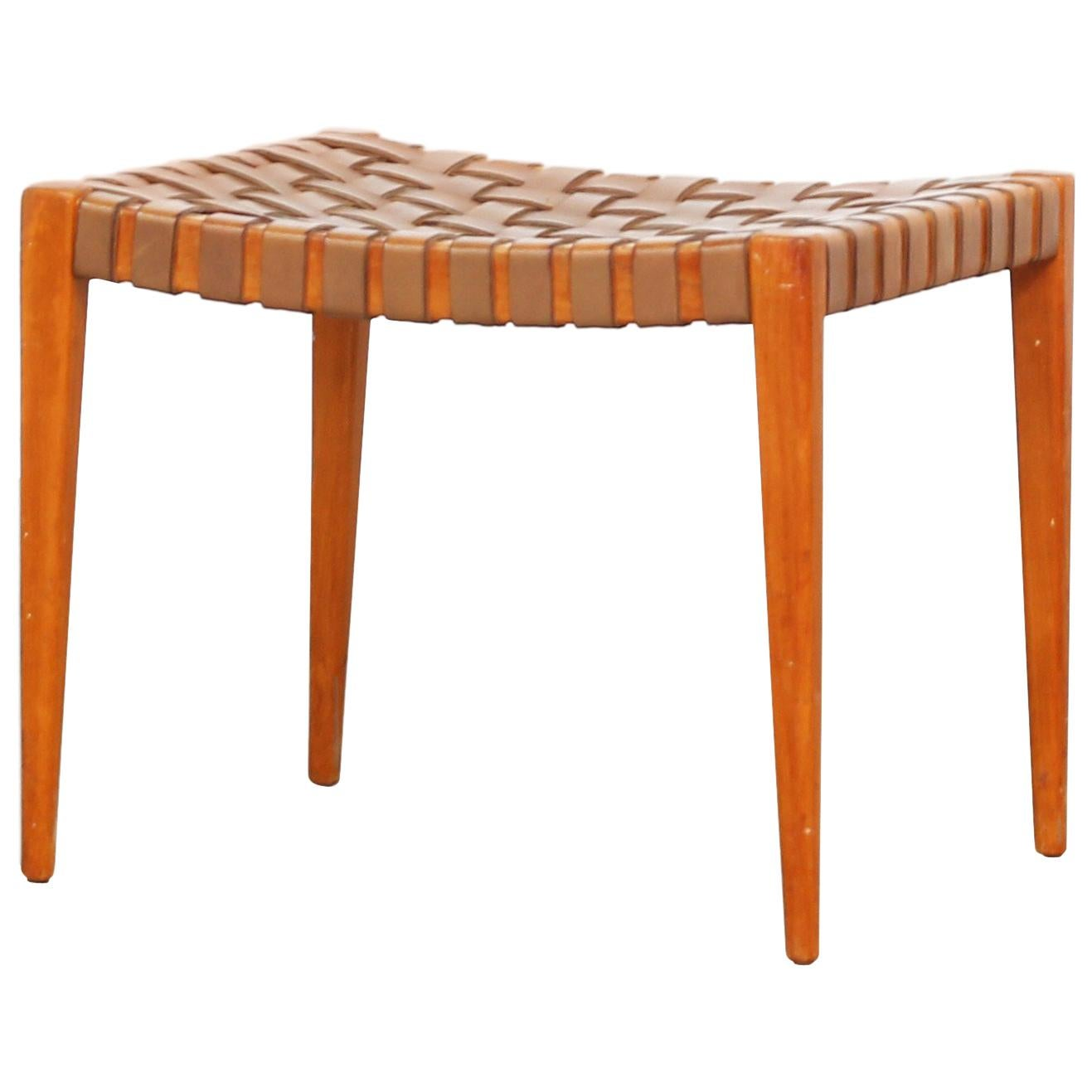German Stool Ottoman Attributed to Hartmut Lohmeyer, Germany, 1950