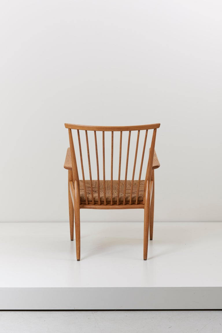 German Studio Lounge Chairs in Ash and Papercord For Sale 1