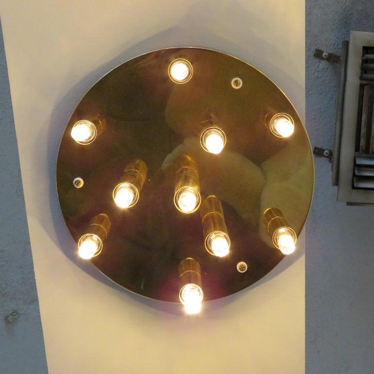 German Ten-Light Flush Mount Light Panel For Sale 3