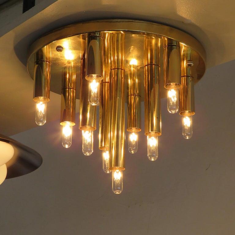 German Ten-Light Flush Mount Light Panel For Sale 1