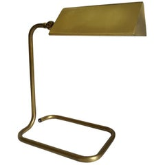 German Vintage Adjustable Solid Brass Desk Lamp by Florian Schulz 1960s