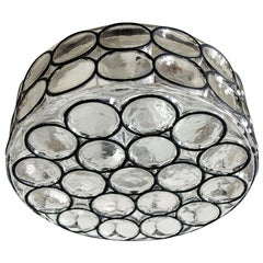 German Vintage Blown Glass Ceiling or Wall Light Flushmount, 1960s