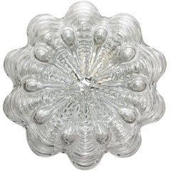 German Vintage Bubble Glass Ceiling or Wall Light Flushmount, 1960s