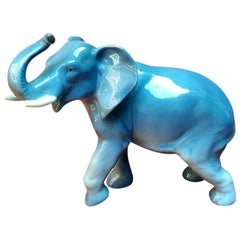 German Vintage Ceramic Elephant, 1960s
