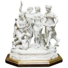 German White Porcelain Figure Group Centerpiece