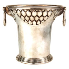 German WMF Secessionist Silver Plated Ice Bucket