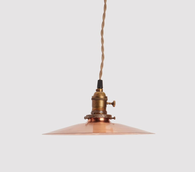 Germany, 1920s Copper Swinging Lamps In Excellent Condition For Sale In Milan, IT