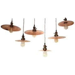 Germany, 1920s Copper Swinging Lamps