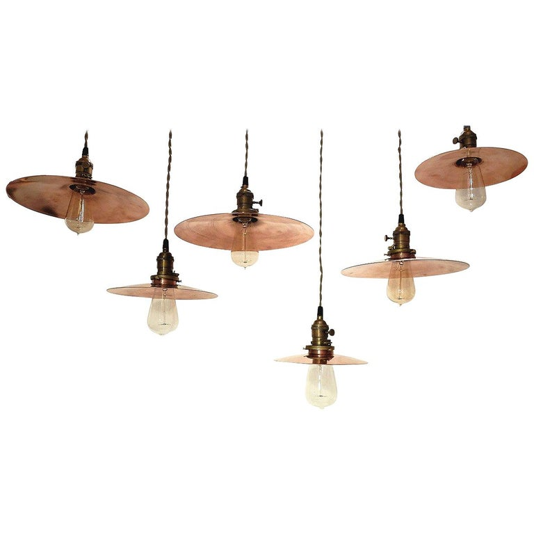 Germany, 1920s Copper Swinging Lamps For Sale