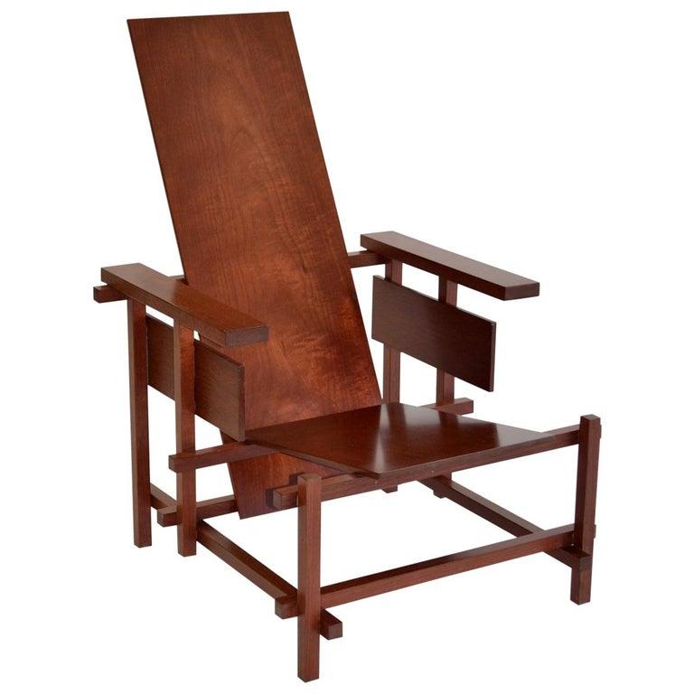 Gerrit Rietveld Gentleman's Red Blue Armchair ...